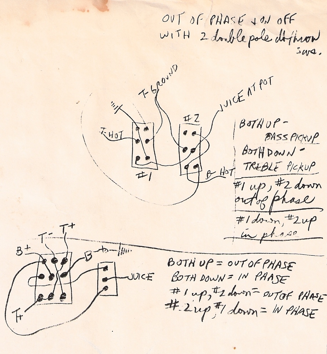 Wiring Diagram 2 A Mystery To Me Ted Greene Archive Guild Guitar Or Maybe Not